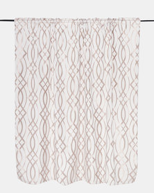 Horrokses Fashions Jacquard Curtain Oval Taupe