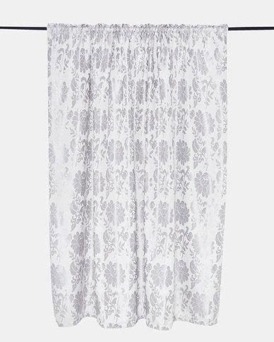 Horrokses Fashions Jacquard Curtain Duckegg Floral