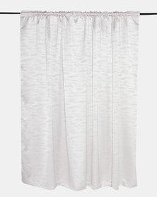 Horrokses Fashions Jacquard Curtain Textured Silver