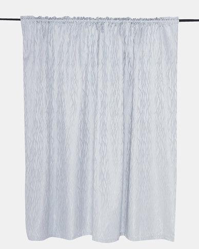 Horrokses Fashions Jacquard Curtain Blue Stripe