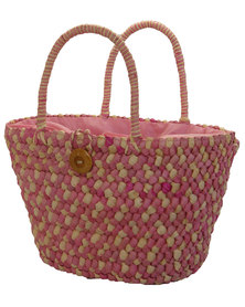 Fino Straw Beach/Shopping Bag  - Pink