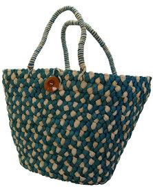 Fino Straw Beach/Shopping Bag  - Blue