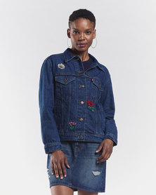 Levi's ® Bed Of Roses Ex-Boyfriend Trucker Jacket Blue