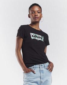 Levi's ® Floral Meteorite Slim Crew Logo Tee Black
