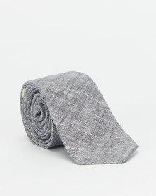 non-european® Male Tie Dark Blue Linen