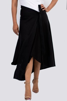 T'Niche Jima Split Skirt Black