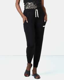 Ecopunk Athleisure sporty comfy pants BLACK