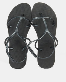 Havaianas Allure Tbar Cross Toe Sandal Black