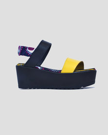 ichume Shisa Leather Platform Yellow
