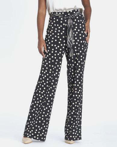 Contempo Combo Printed Pants Black