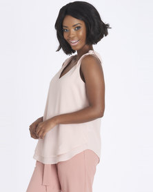 Contempo Double Layer GG Top Blush