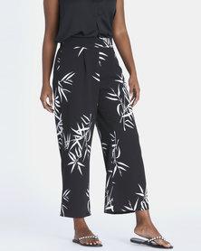 Contempo Printed Pants Black