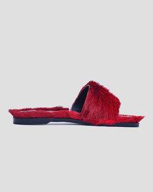 ichume Mqhele Leather Slide Red