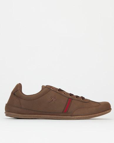 Soviet Carter Mono Sneakers Choc