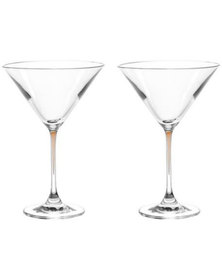 Leonardo Clear Cocktail Glass with Chestnut Brown Stem LA Perla Set of 2