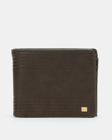 Billabong Junction Flip Wallet Brown