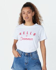 Billabong Hello Summer Boyfriend Tee White
