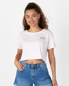 Billabong Your Tribe Crop Tee Pink