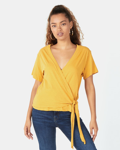 Billabong Under Wraps Top Yellow