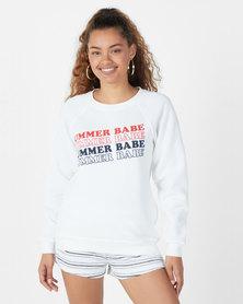 Billabong Summer Babe Crew Sweatshirt White