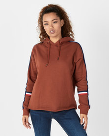 Eden Zoe Fleece Sweatshirt Brown