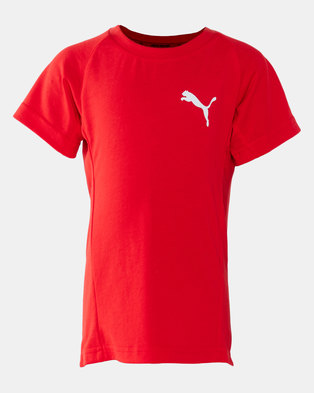 Puma Sportstyle Core Boys Evostripe Tee High Risk Red