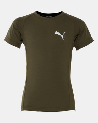 Puma Sportstyle Core Boys Evostripe Tee Forest Night