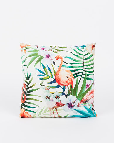 Utopia Floral Flamingo Scatter Cushion Cover Multi