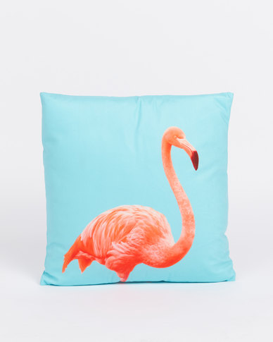 Utopia Flamingo Multi Scatter Cushion Cover Blue