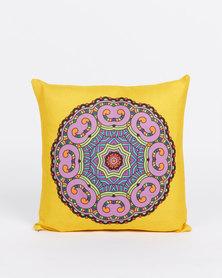 Utopia Mandala Scatter Cushion Cover Yellow