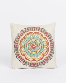 Utopia Mandala Cushion Cover Yellow White