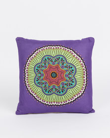 Utopia Mandala Cushion Cover Purple