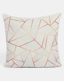 Utopia Geometric Scatter Cushion Cover White