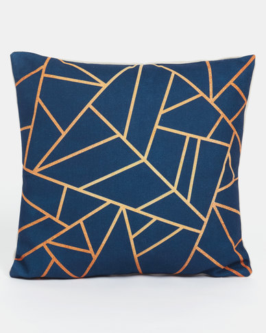 Utopia Geometric Scatter Cushion Cover Navy