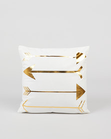 Utopia Foil Arrow Scatter Cushion Cover Gold