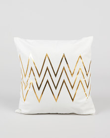 Utopia Foil Zig Zag Scatter Cushion Cover Gold