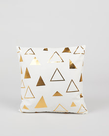 Utopia Foil Triangle Scatter Cushion Cover Gold