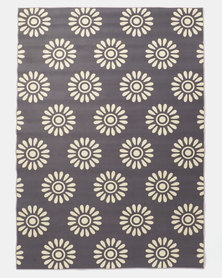Utopia Flower Rug White