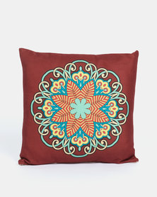Utopia Mandala Cushion Cover Dark Red