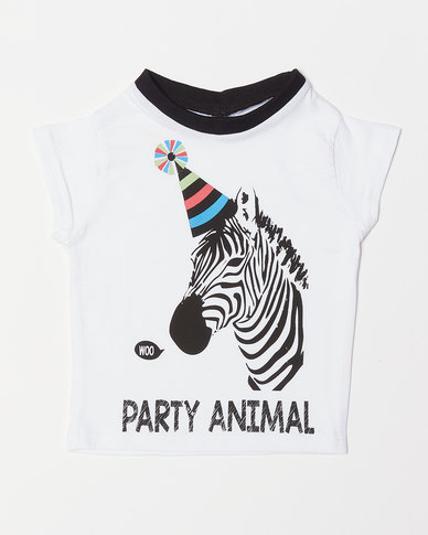 Utopia Boys Party Animal Tee White