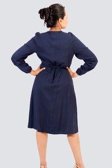 Danielle Frylinck Classic Wrap Dress Navy