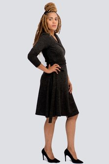 Danielle Frylinck Courtney Wrap Dress Black