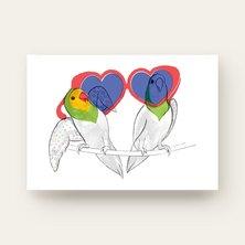 Karakrature Lovebirds Wall Art