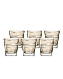 Leonardo Drinking Glass Tumbler Chestnut Brown VARIO Set of 6