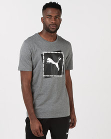 Puma Sportstyle Core Cat Brand Graphic Medium Grey Heather