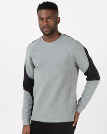 Puma Sportstyle Core Evostripe Crew Medium Grey Heather