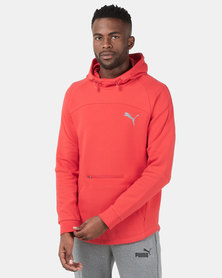 Puma Sportstyle Core Evostripe Hoodie High Risk Red