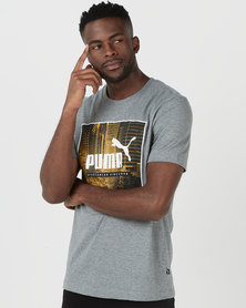 Puma Sportstyle Core Photo Street Tee Medium Grey Heather