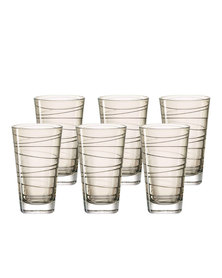 Leonardo Tall Drinking Glass Chestnut Brown VARIO Set of 6