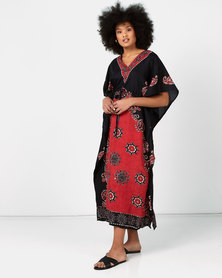 Joy Collectables Colour Kaftan Red